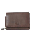 Peňaženka kožená dámska hnedá VK15