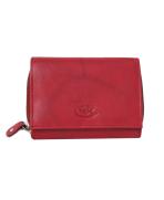 Peňaženka kožená dámska červená VK15