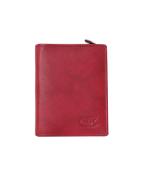 Peňaženka kožená dámska červená VK23