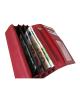 Peňaženka kožená dámska červená VK7