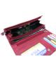 Peňaženka kožená dámska červená VK71