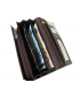 Peňaženka kožená dámska hnedá VK71