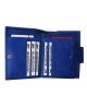 Peňaženka kožená dámska modrá VK25