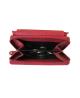 Peňaženka kožená dámska červená VK16