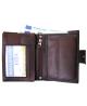 Peňaženka kožená pánska hnedá VK28