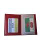 Dokladovka kožená červená VK112