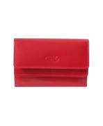 Peňaženka kožená dámska červená P 600