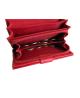 Peňaženka kožená dámska červená VK36