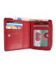Peňaženka kožená dámska červená VK35