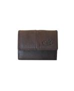 Peňaženka kožená dámska hnedá VK18