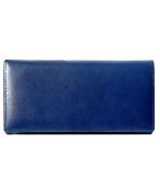 Peňaženka kožená dámska tmavomodrá R005
