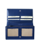 Peňaženka kožená dámska tm.modrá R005