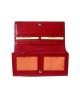 Peňaženka kožená dámska červená R005