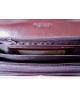 Peňaženka kožená dámska tm.hnedá R005