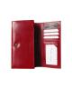 Peňaženka kožená dámska červená M214