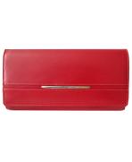 Peňaženka kožená dámska červená M211