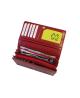 Peňaženka kožená dámska červená M213