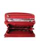 Peňaženka kožená dámska červená VK10