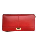 Peňaženka kožená dámska červená 172D