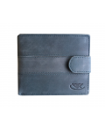 Peňaženka kožená pánska modrošedá M203 L