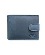 Peňaženka kožená pánska modrošedá M203 R