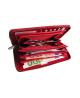 Peňaženka kožená dámska červená M174 D