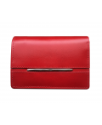 Peňaženka kožená dámska červená M219 Lin