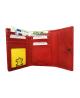Peňaženka kožená dámska červená M218
