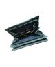 Peňaženka kožená dámska modrosivá M221