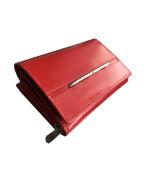 Peňaženka kožená dámska červená M220