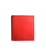 Peňaženka kožená dámska červená M222