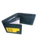 Peňaženka kožená pánska modrošedá M202