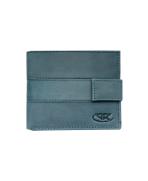Peňaženka kožená pánska modrošedá M209 L