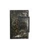 Peňaženka kožená dámska  zeleno-čierna 12831
