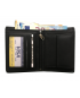 Peňaženka kožená pánska čierno/čierna 11453