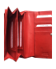 Peňaženka kožená dámska červená M217 Lin