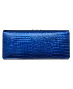 Peňaženka kožená dámska modrá 5300