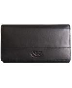 Peňaženka kožená dámska čierna VK10 Linea