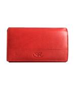 Peňaženka kožená dámska červená VK36 Linea