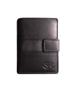 Peňaženka kožená čierna VK34 L