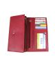 Peňaženka kožená dámska červená VK71 linea
