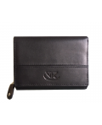 Peňaženka kožená dámska čierna VK17 Linea