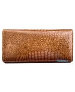 Peňaženka lakovaná dámska hnedozlatá 5288