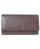 Peňaženka kožená hnedá VK71